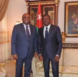 Togolese President Faure Gnassingbé with Afreximbank President Dr. Benedict Oramah after their meeting in Lomé
