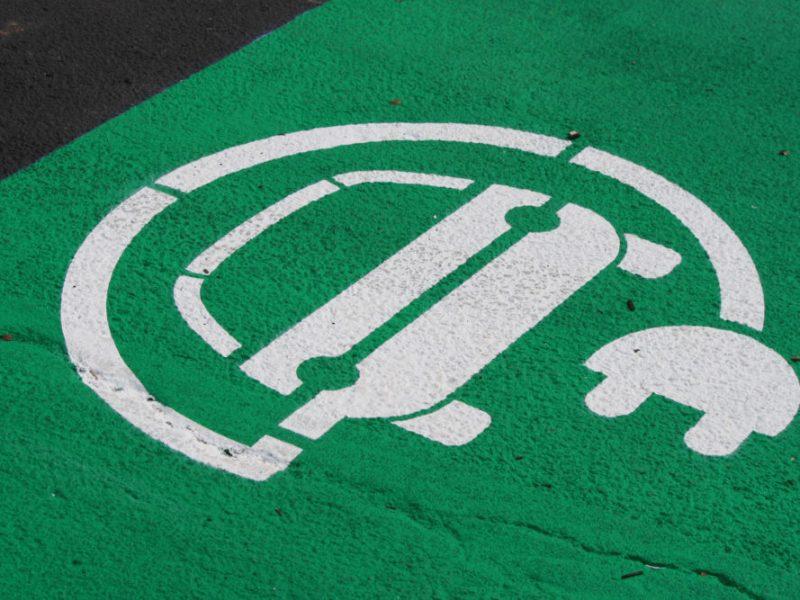 symbol indicating electric vehicle parking