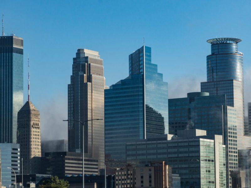 the downtown Minneapolis skyline