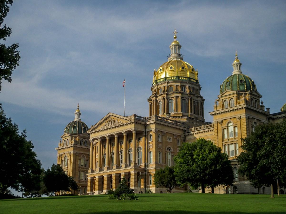 The Iowa Capitol Building.