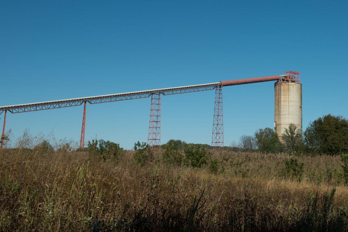 Mining operation in progress at the MC-1 mine in Macedonia, IIlinois in late 2018.