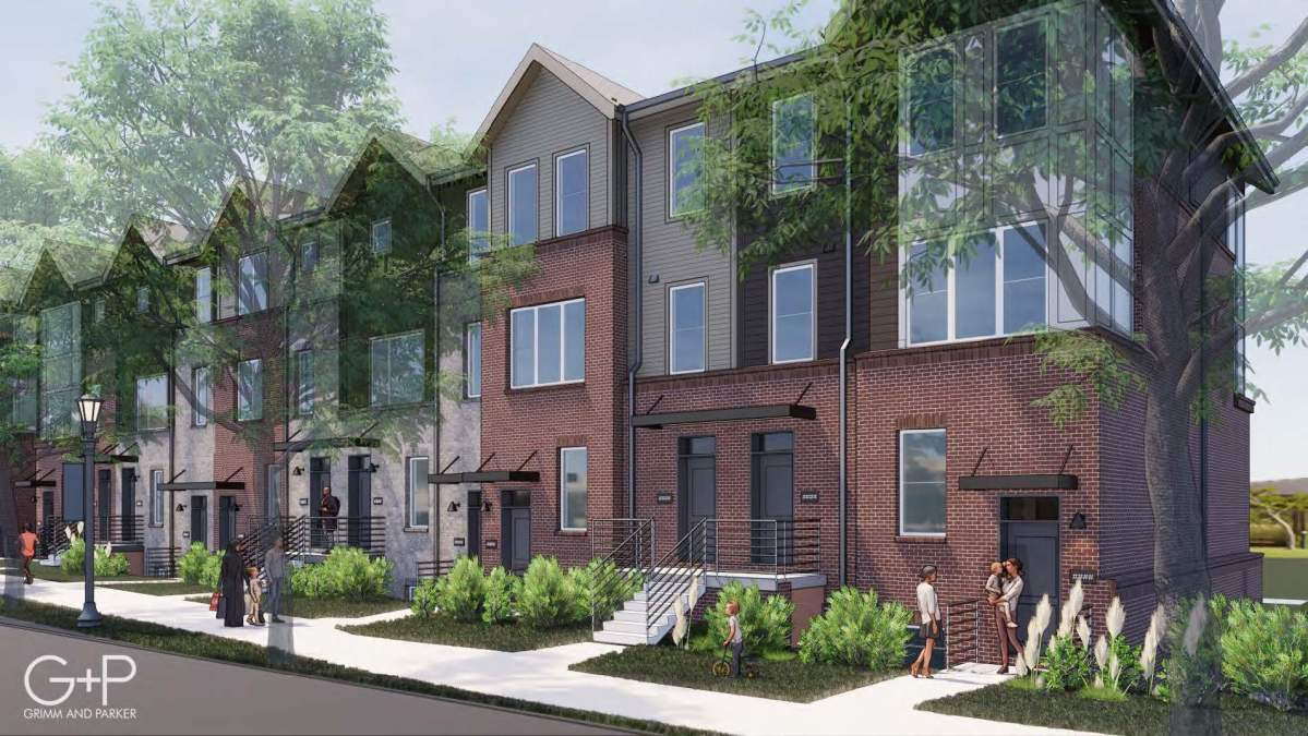A rendering shows a portion of the Friendship Court redevelopment plan.