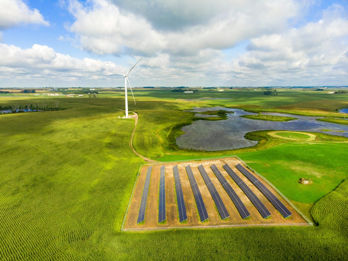 Lake Region Electric Cooperative's wind-solar hybrid project.