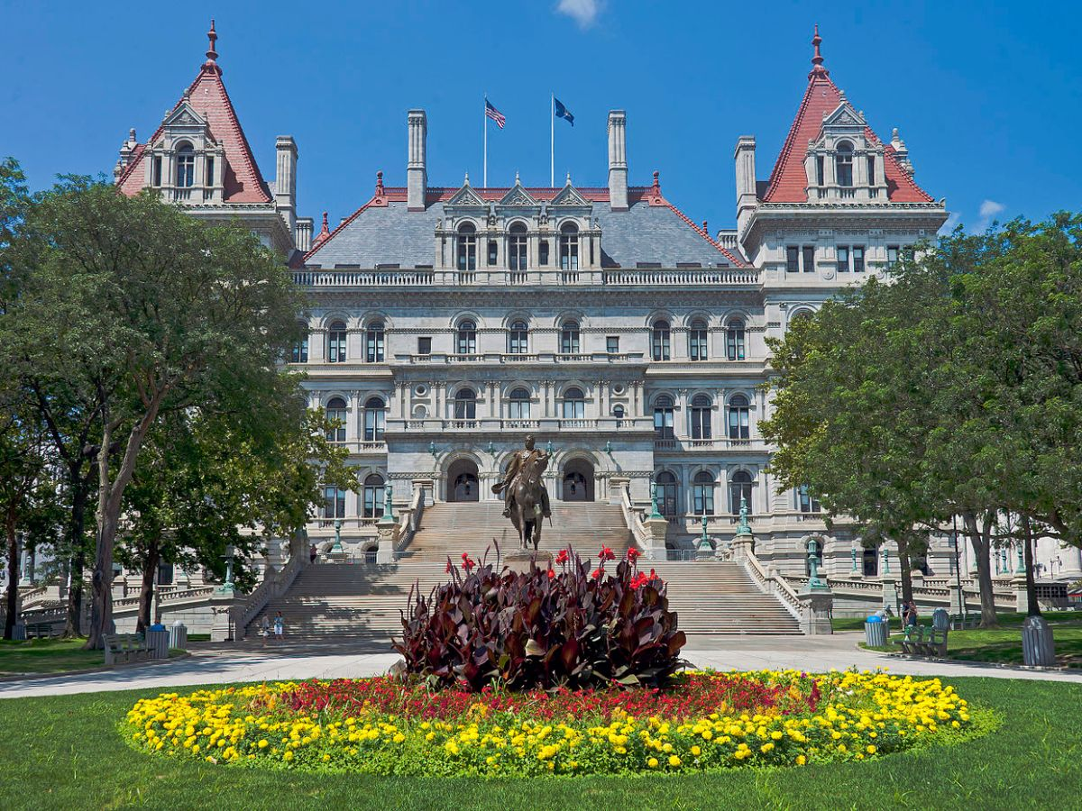 The New York Statehouse in Albany.