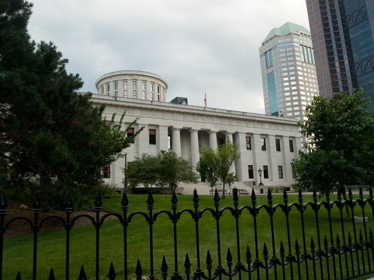 The Ohio Statehouse in Columbus.
