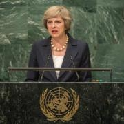 In maiden UN speech, May says UK not turning away from the world