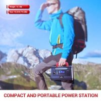 ROCKPALS 500W Portable Power Station, 540Wh Lithium Battery Solar Generator Backup Power Supply with 110V AC Outlet, 2 DC Port