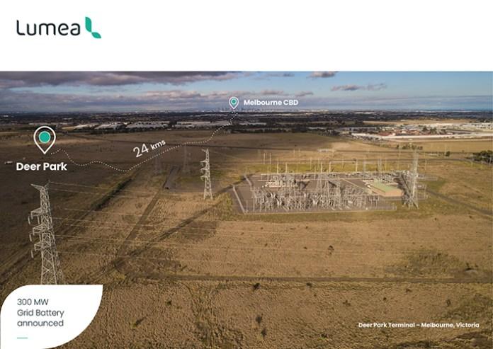 Lumea Starts EoI Process For Development Of 300MW Grid Scale Battery In Australia