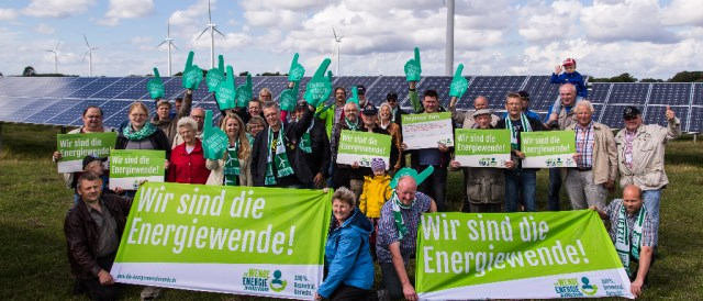 "The initiative ""Energiewende in Bürgerhand"" is one of many civil society actors promoting the idea of energy democracy. (Photo: buergerenergiewende.de)"