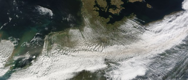 Germany covered in clouds - the weather (Photo by NASA).