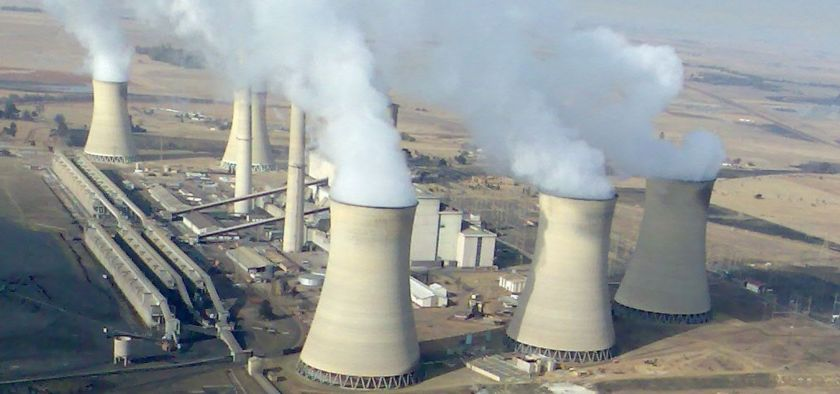 A coal power station in South Africa