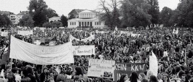 Ant Nuclear Protest 1979 in Bonn, Germany.