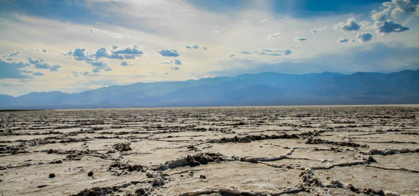 cracking crust of the death valley desert