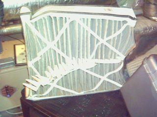 HVAC filter, crushed