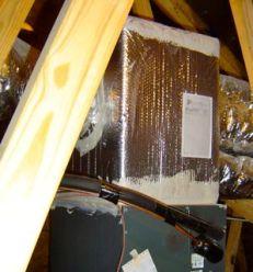 HVAC foil faced bubble wrap as duct insulation