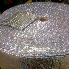 radiant barrier - foil-faced bubble wrap