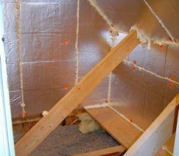 attic kneewall fiberglass batt insulation building envelope moved 2