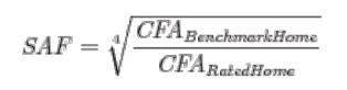 energy star homes version 3 size adjustment factor equation
