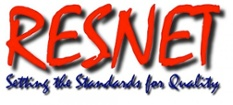RESNET logo home energy rating system HERS