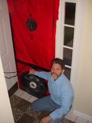 Jack Cowan with Blower Door
