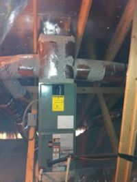 hvac duct design ducts too high in attic upflow air handler