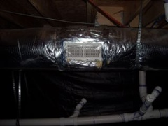 crawl space encapsulation conditioned with supply air duct leakage outside building envelope