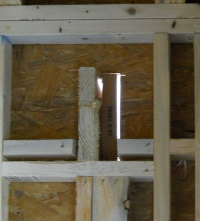 building envelope framing penetration thermal bridging from inside