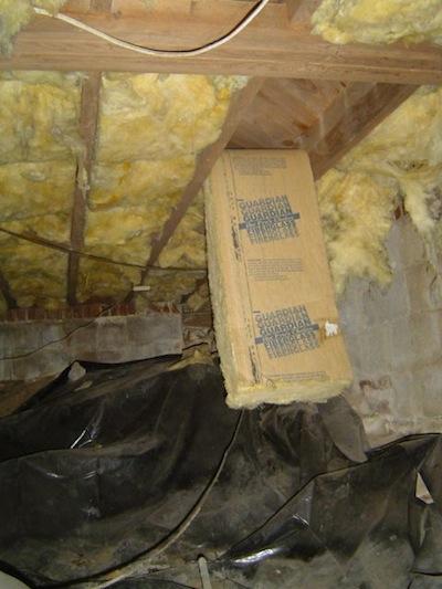 haunted house as a system halloween fiberglass batt insulation falling down