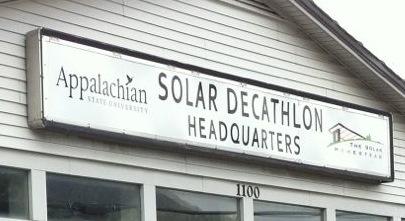 solar decathlon house appalachian state university boone nc headquarters sign