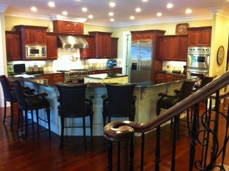 atlanta huge mcmansion kitchen