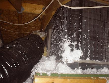 hvac air conditioner condensing unit in attic 2 small