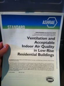 ASHRAE standard 62.2 has formulas for how much ventilation air a home needs.