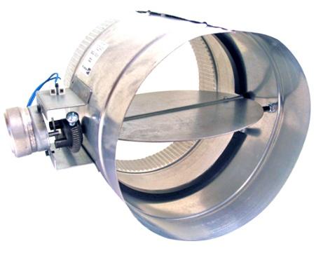 hvac duct motorized zone damper ventilation