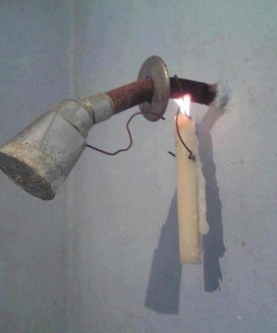 water heating energy saving shower candle power