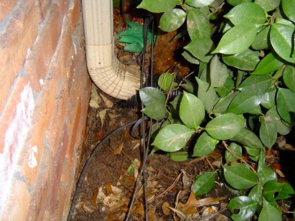 crawl space encapsulation moisture problem mystery gutter downspout 4