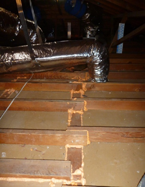 hvac duct system attic air sealing buried insulation