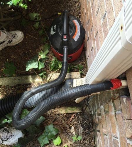 air conditioner condensate line clean wet dry vacuum