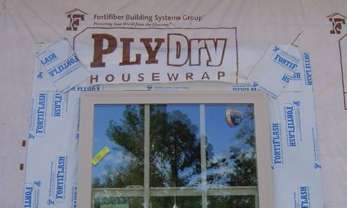 house wrap window flashing moisture management