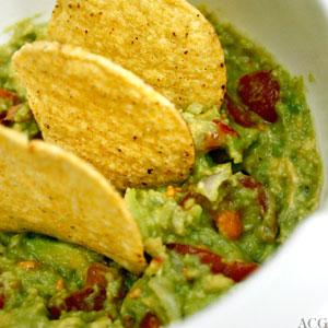 guacamole med maischips