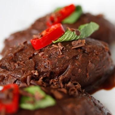 Mocha sorbet med chili