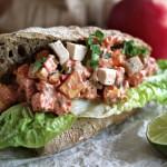 Kylling og tandoori sandwichsalat
