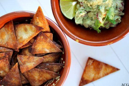 torillachips og guacamole