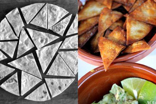 hjemmelaget tortillachips