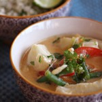 Torsk i rød curry og blomkålris