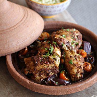 tagine med kylling og grønnsaker