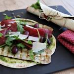 Lunsjwrap med bresaola og aubergine