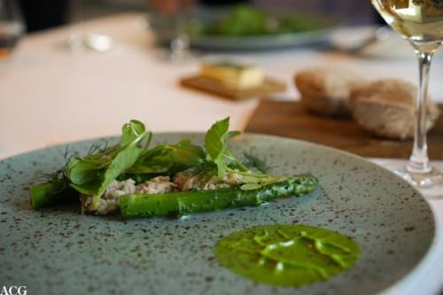 Syltet makrell og asparges
