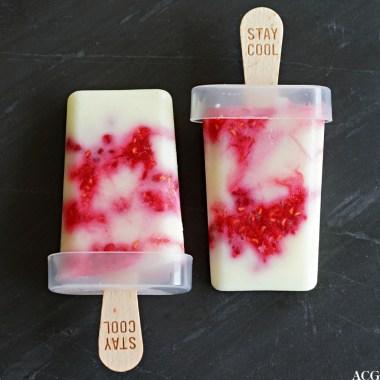 yoghurtis på pinne