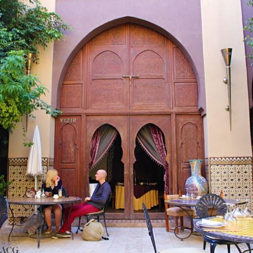 restaurant i Marrakech