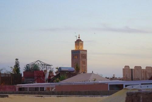 Minareten i Marrakech